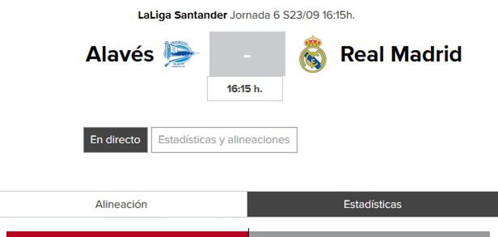 Alavés - Real Madrid: horario y TV