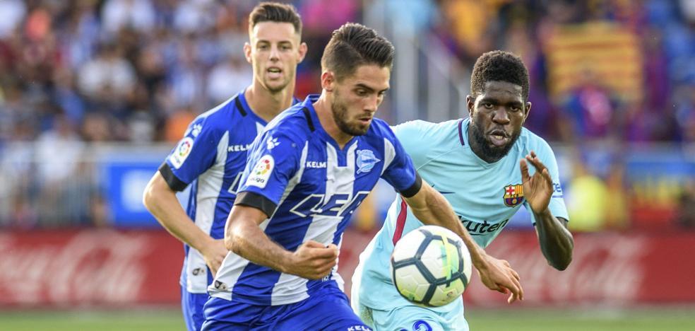 Sobrino entra por Munir ante el Barça