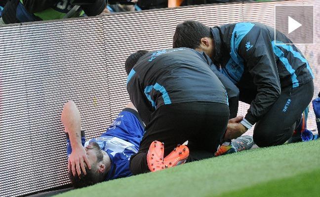 El vídeo de Pedraza retorciéndose de dolor tras el choque con Carvajal
