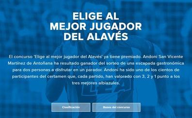El concurso 'Elige al mejor jugador del Alavés' ya tiene ganador