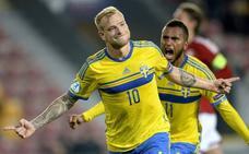 Guidetti, duda en Suecia tras sufrir un esguince en un pie durante un entrenamiento
