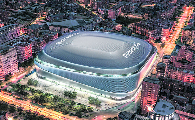 Imagen virtual del futuro estadio del Real Madrid./