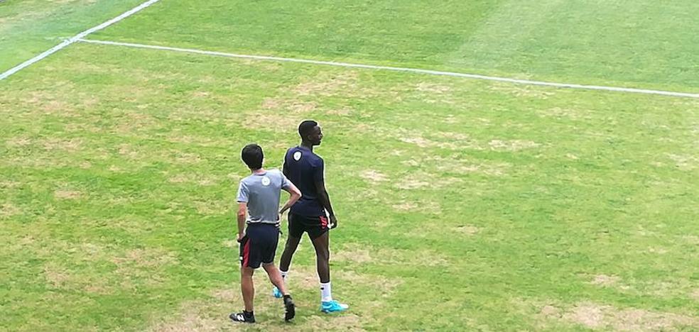 Kepa y Williams, entrenamiento en Las Llanas