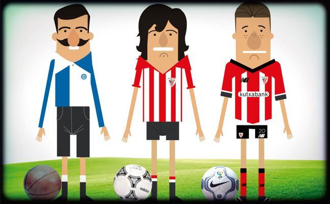 Repaso animado a todas las camisetas del Athletic desde 1898