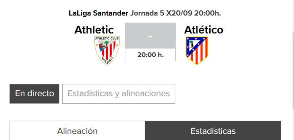 Athletic - Atlético de Madrid: horario y TV