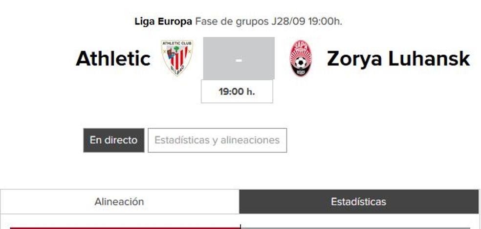 Athletic - Zorya: horario y TV