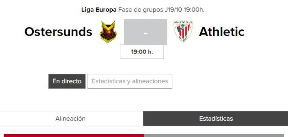 Ostersunds - Athletic: horario y TV