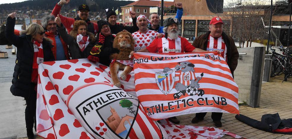 La afición del Athletic se deja sentir en Östersund