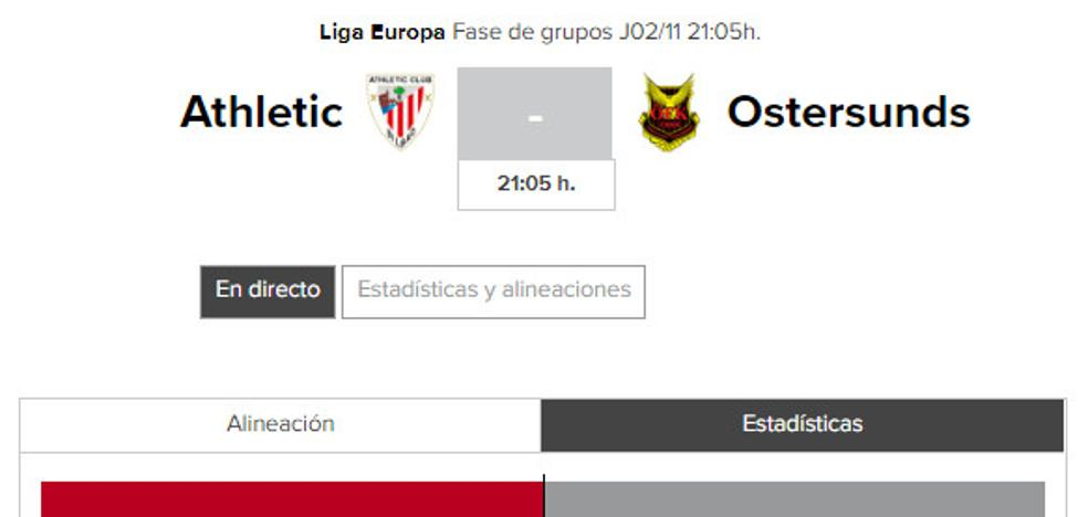Athletic - Ostersunds: horario y TV