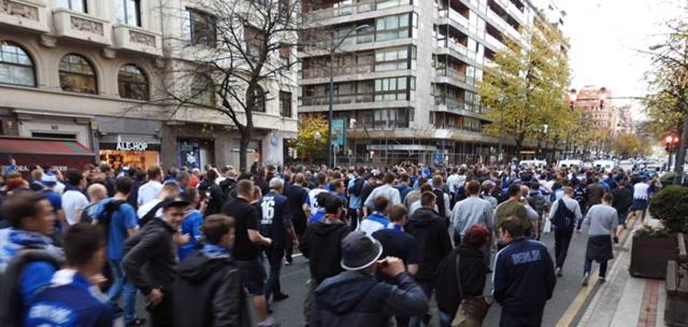 Los aficionados del Hertha de Berlín ya están en San Mamés