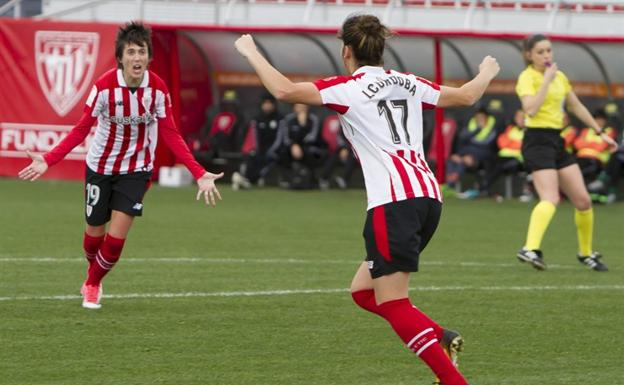 Las jugadoras del Athletic celebran un gol. /ATHLETIC CLUB