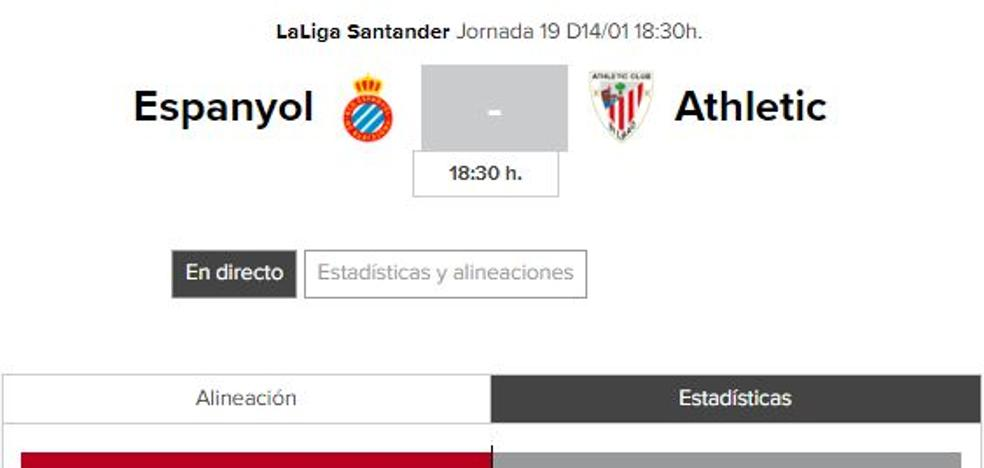 Espanyol - Athletic: horario y TV
