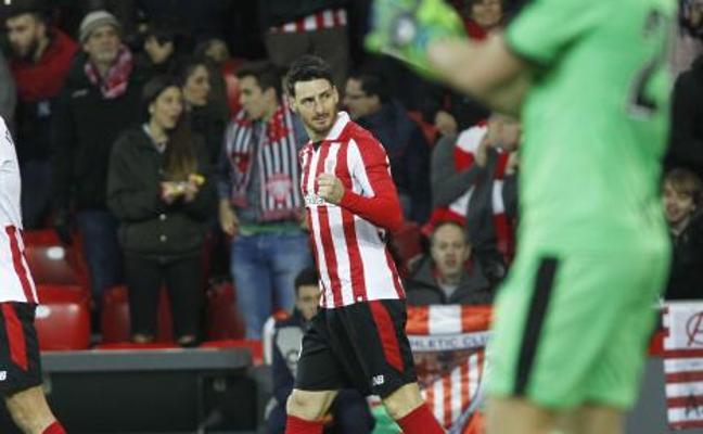 Aduriz ya es séptimo en la lista de goleadores históricos del Athletic