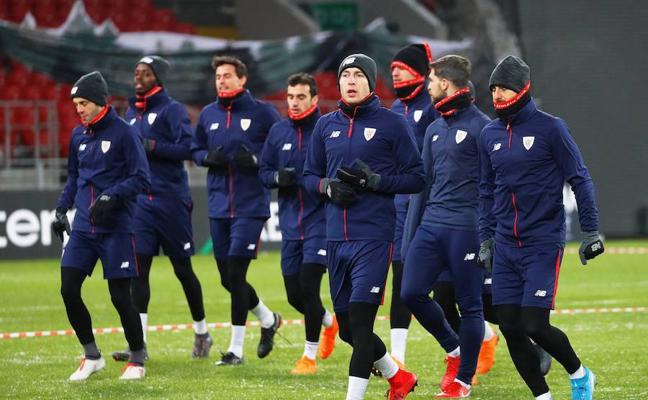 El frío, el otro rival del Athletic en Moscú