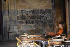 Aparecen pintadas contra los ultras del Spartak en el Casco Viejo de Bilbao