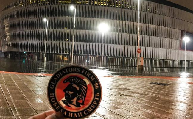 Los ultras del Spartak implicados en los incidentes de Vitoria, camino de Bilbao
