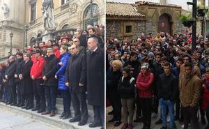 Bilbao y Ermua se unen en repulsa por la muerte del ertzaina con sendas concentraciones multitudinarias