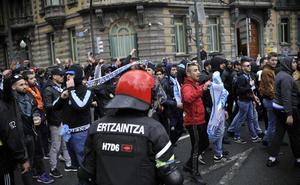 El espectacular despliegue policial del Athletic - Marsella, en imágenes