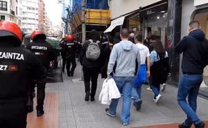 Los ultras del Marsella escoltados por la Ertzaintza en Bilbao