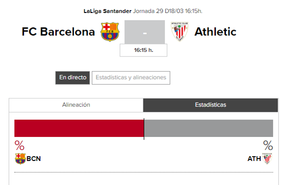 Barcelona - Athletic: horario y TV