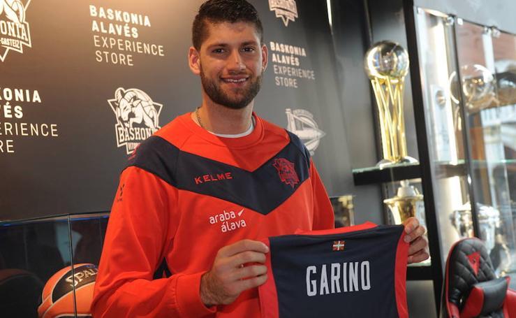 Presentación de Patricio Garino como nuevo jugador del Baskonia