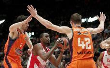 El Baskonia suma seis partidos de ACB sin ganar en Valencia