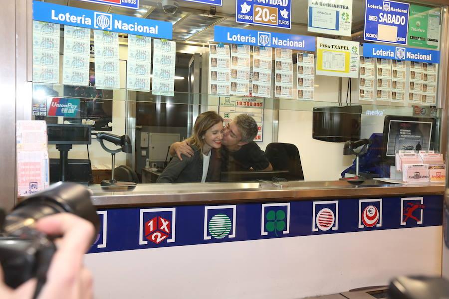 Así celebró Bizkaia su suerte en la Lotería
