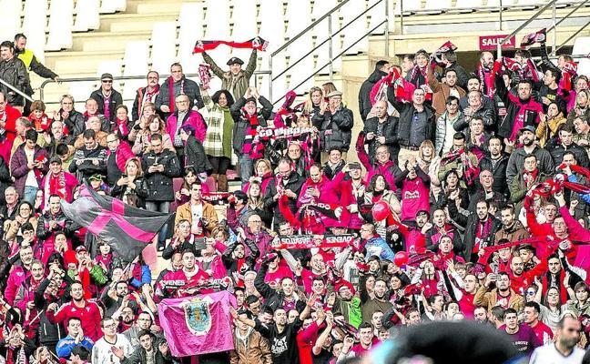 El Mirandés protagonizó a Logroño el desplazamiento más masivo del Grupo II