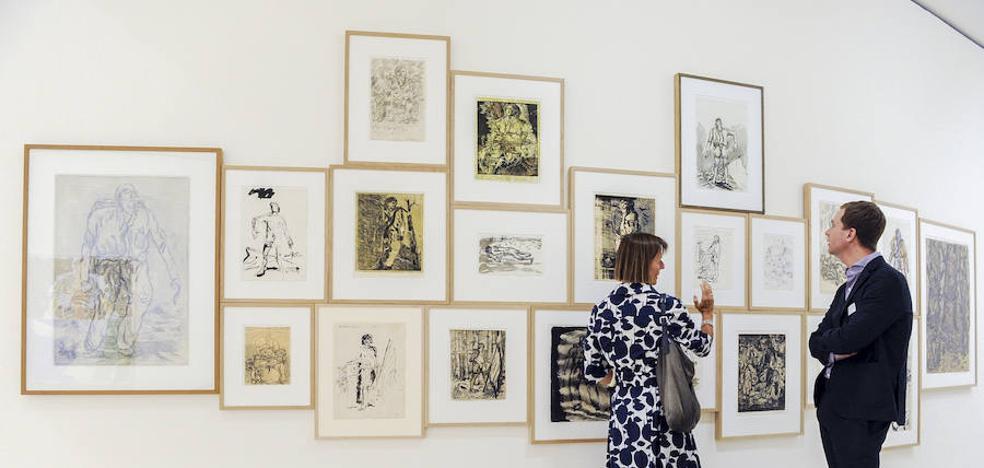 El artista alemán Georg Baselitz muestra sus particulares 'Héroes' en el Guggenheim