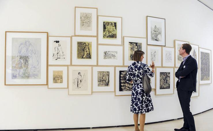 'Los héroes' de Baselitz llegan al Guggenheim