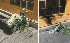 Radicales queman una foto y flores del homenaje a Miguel Ángel Blanco en Getafe