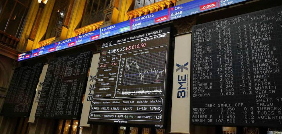 El Ibex-35 remonta un 0,60% a pesar de la banca