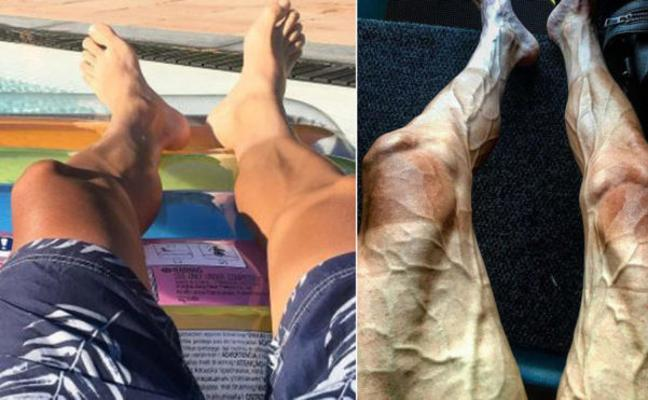 Las piernas de un ciclista antes y después del Tour