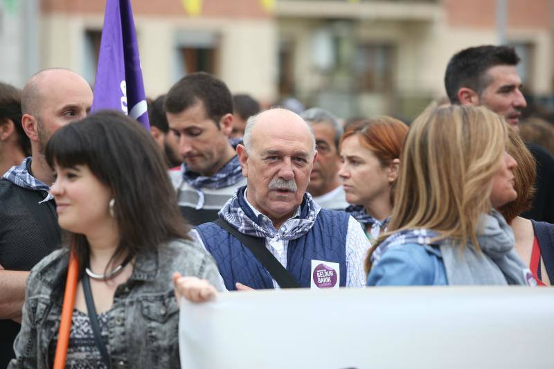 Concentración contra la agresión sexista en Barakaldo