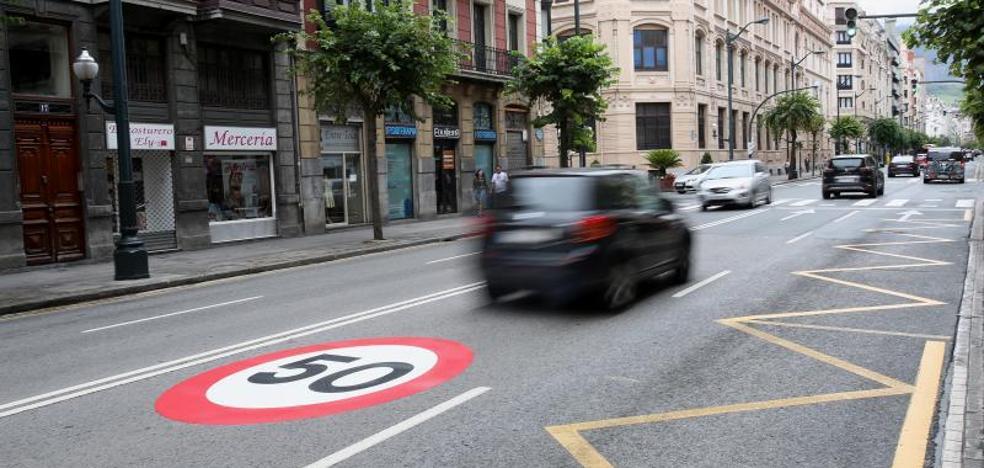 Radares fijos y más señales de 50 km/h para frenar la velocidad en la entrada a Bilbao por La Salve