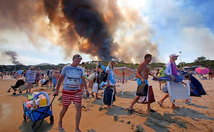 1.300 hectáreas arden en el sur de Francia