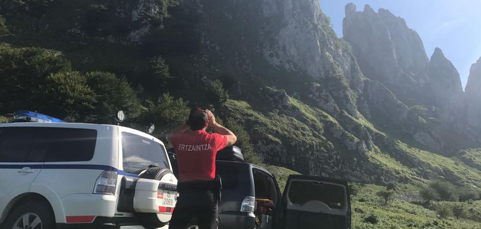 Rescatan a un montañero en el Parque Natural del Gorbea gracias a la app Alpify