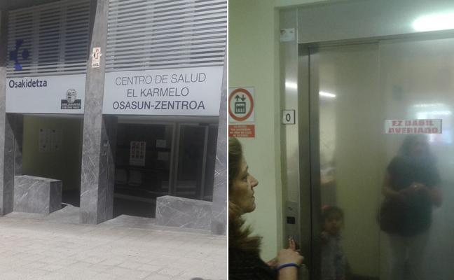 Una nueva avería en el ascensor del ambulatorio de Santutxu indigna a los vecinos