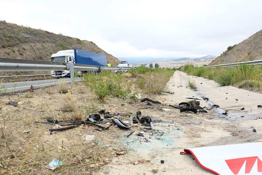 Accidente mortal en la A-1 a su paso por Treviño