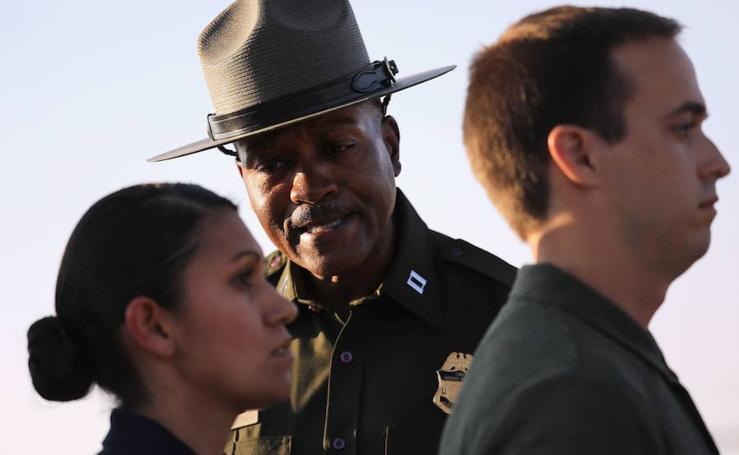 Los policías fronterizos de Trump se preparan
