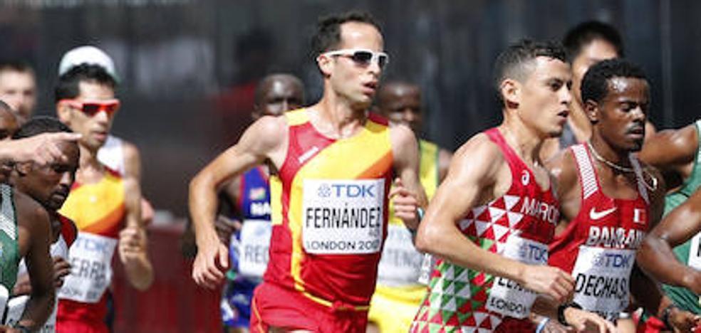Iván Fernández se retira en la maratón de Londres