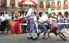 Corrida de toros frente al Ayuntamiento de Vitoria