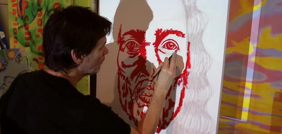Jim Carrey renace entre la pintura
