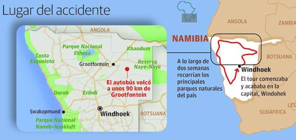 La turista fallecida en el accidente de un autobús en Namibia es una bilbaína de 31 años