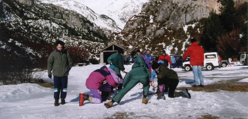 Seis montañeros de Santutxu murieron en 1995 en el mismo pico donde falleció Mikel