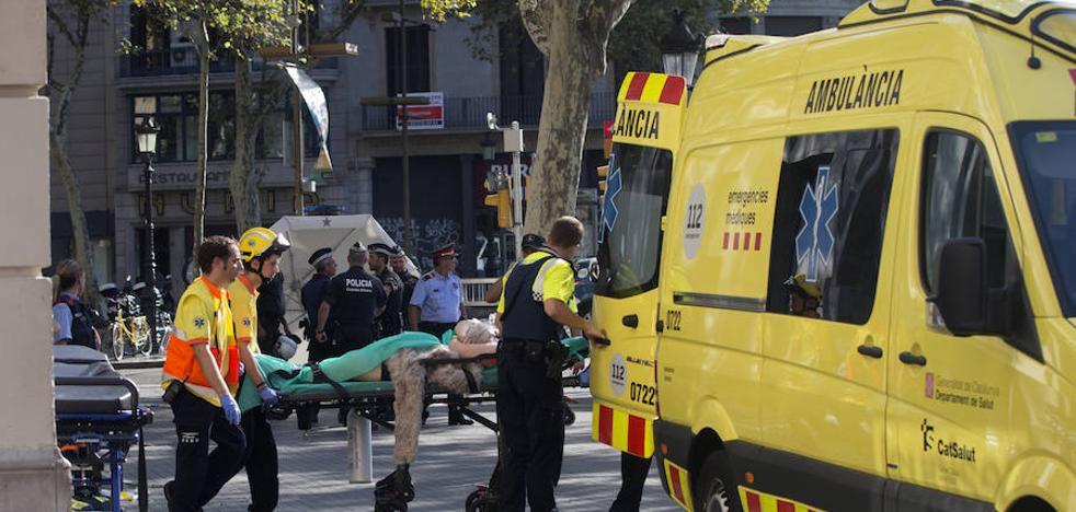 Momentos tras el incidente en las Ramblas