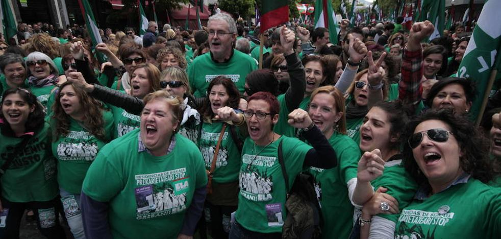 Trabajadoras de residencias intensificarán las protestas en Aste Nagusia