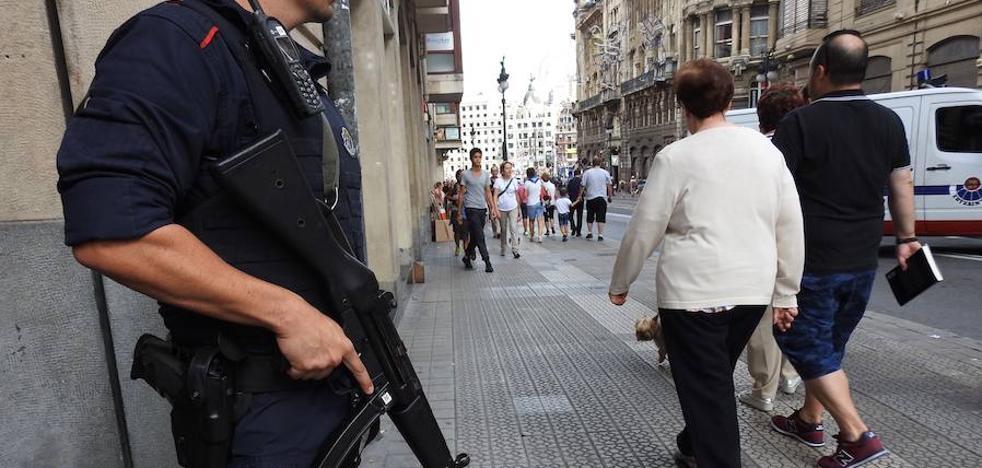 La Policía toma posiciones para garantizar la seguridad en Aste Nagusia