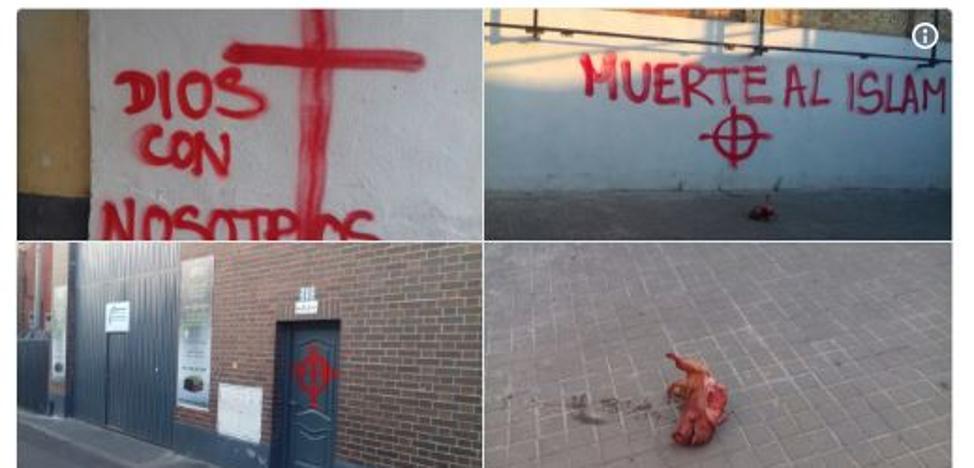 Pintadas xenófobas en mezquitas de Cataluña y Sevilla: «Vais a morir»
