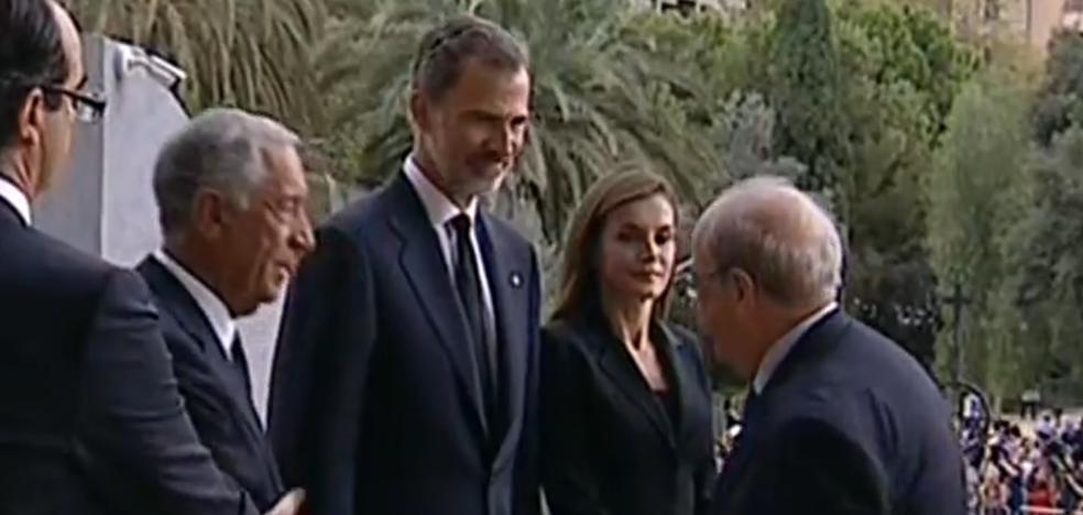 Los Reyes presiden el funeral por las víctimas de los atentados